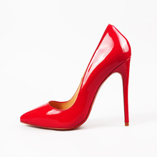 Female Red High-heeled Shoes O...