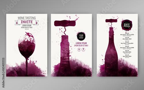 Valokuva Design templates background wine stains