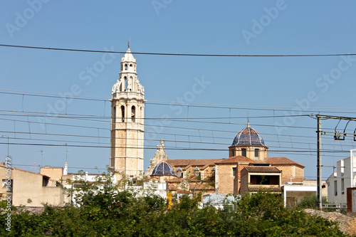 A church in Peniscola, a town in the province of Castello, Valencian Community, Spain