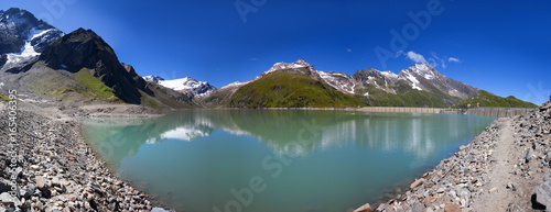 Photo Stands Lavender Panorama Mooserboden Stausee