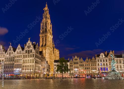 Foto op Plexiglas Antwerpen Grote Markt in Antwerp - Belgium