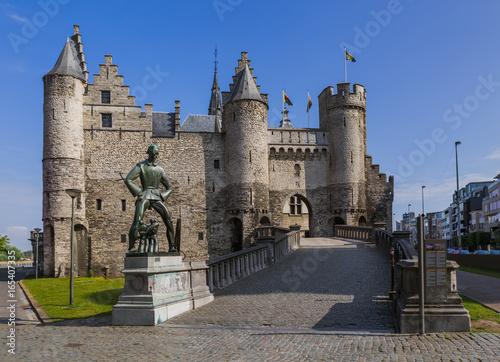 Foto op Plexiglas Antwerpen Steen castle in Antwerp Belgium