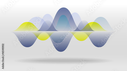 Photo Colorful motion sound wave abstract vector background