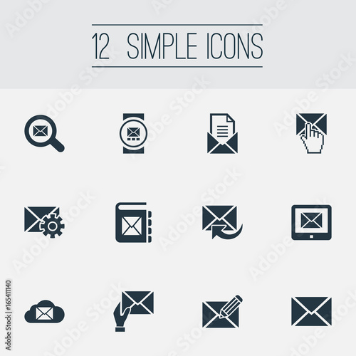 Vector Illustration Set Of Simple Communication Icons Elements Make