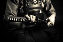 Kendo Master Standing In Tradi...