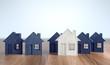 Leinwanddruck Bild - Immobilein aus Knetmasse