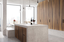Marble Bar White Kitchen, Oven...