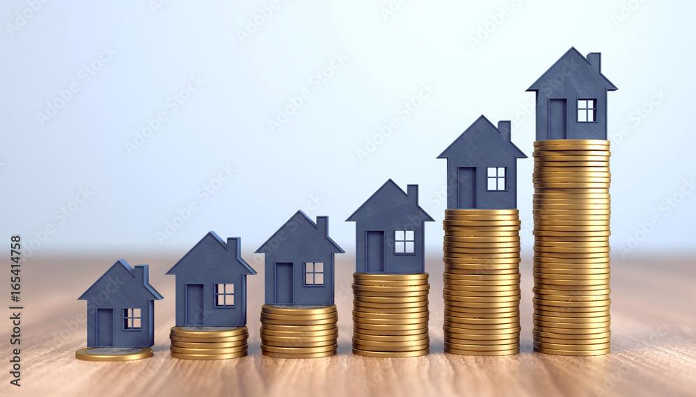 Fototapety, obrazy: steigende Immobilienpreise