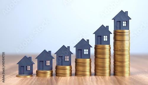 Fototapeta steigende Immobilienpreise obraz