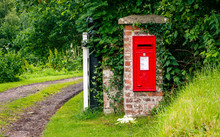 Rural Red Post Box