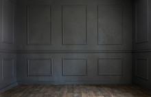 Grunge Old Dark Empty Room Wit...