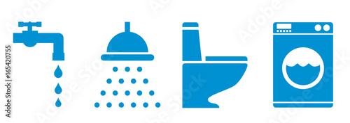 Fotografie, Obraz  simbol saving water