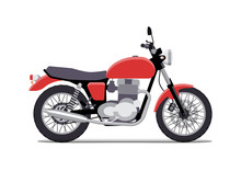 Red Classic Motorcycle Design ...