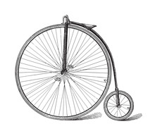 Old High Wheel Bicycle / Vinta...
