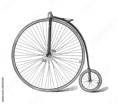 Old high wheel bicycle / vintage illustration  © Hein Nouwens