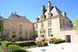 Leinwanddruck Bild - Historic mansion in Langres, former town hall, today museum, Departement Haute-Marne, France