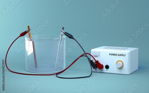 Photo Electrolysis of water