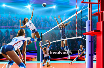 Female professional volleyb...