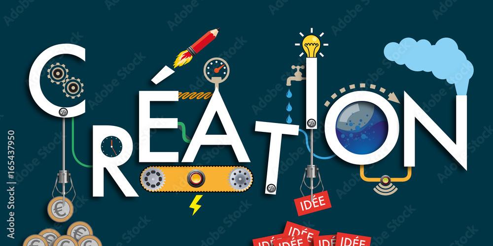 Fototapety, obrazy: création - idée - imagination - invention - machine - concept - solution - créatif