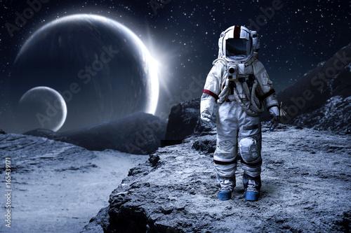 Spoed Foto op Canvas Heelal spaceman