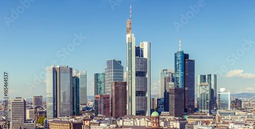 Zdjęcie XXL Frankfurt widok z lotu ptaka antena, drapacze chmur i śródmieście