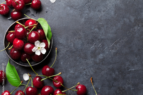 Fresh garden cherry Wallpaper Mural