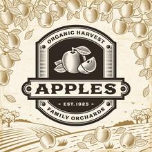 Retro Apples Label On Harvest ...