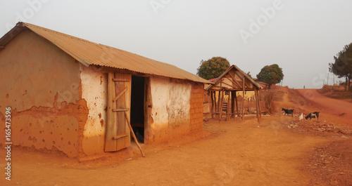 Keuken foto achterwand Afrika Simple Shop in African Village