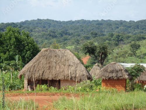 Staande foto Afrika African Village Landscape