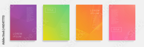 Minimal Vector covers design. Cool halftone gradients. Future geometric template.
