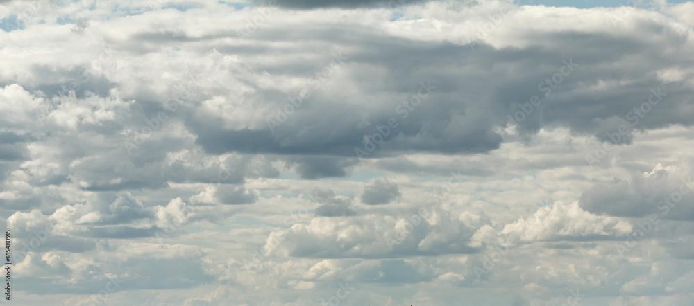 Fototapeta Dramatic clouds on blue sky