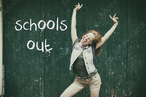 schools out Canvas Print