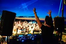 Dj And Dance Floor With Hands ...