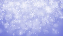 Christmas Background Of Snowfl...