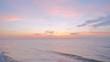 Beautiful sunset on seaside