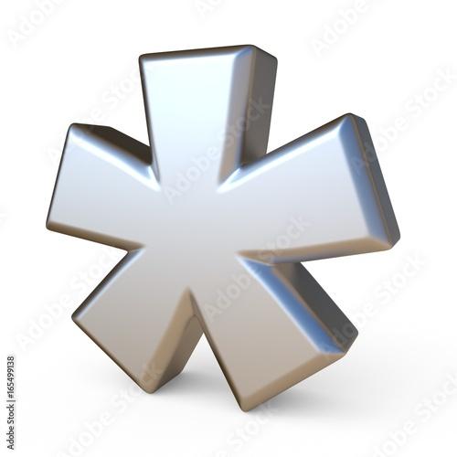 Photo Metal font ASTERISK 3D