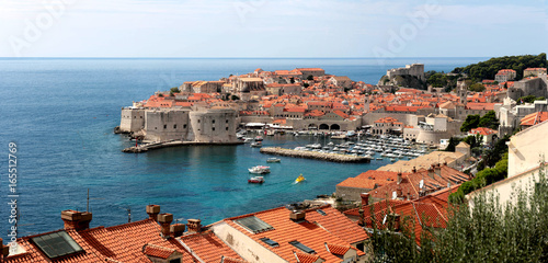 the old town in Dubrovnik, King's landing Canvas Print