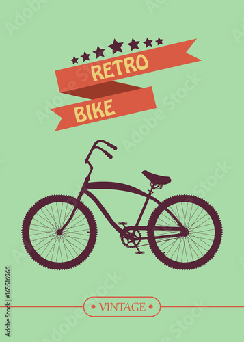Vintage Retro Bicycle  Go out with bicycle retro style - Buy