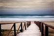 canvas print picture - Paesaggio marino con passaggio dalla spiaggia al mare