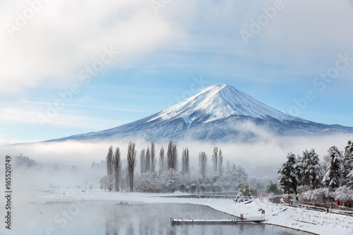 Canvas Prints Japan Mountain fuji and lake kawaguchi, Japan