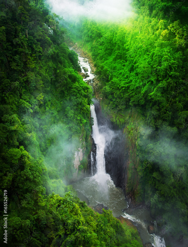 waterfall in forest, Thailand