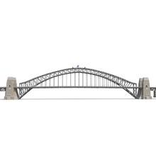 Sydney Harbour Bridge On White. Side View. 3D Illustration