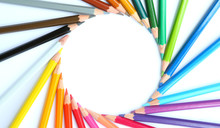 Colored Pencils Row With Wave ...
