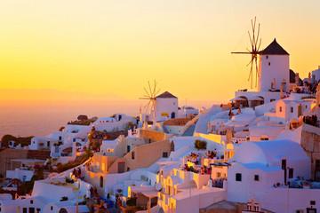 Sonnenuntergang auf Santorini, Griechenland