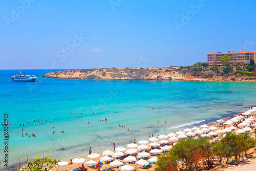 Coral Bay Beach in Paphos, Cyprus