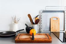 Kitchen Still Life Rustic Dishes Table Ware Orange
