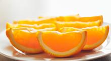 Fresh Orange Slices On A Plate