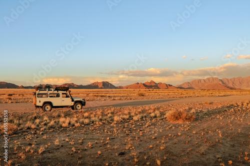 Defender Desert Road Side Canvas Print
