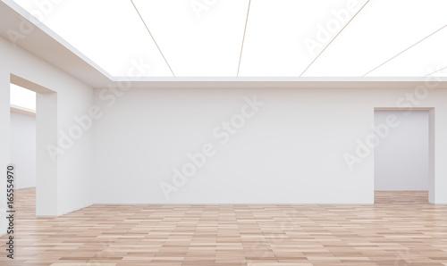 Empty white room modern space interior 3d rendering image Fototapet