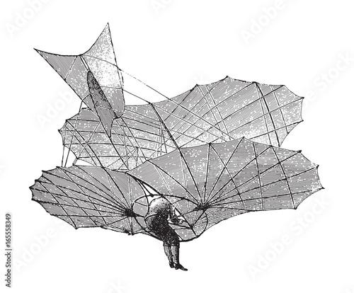 Obraz Old airplane - vintage illustration from  - fototapety do salonu